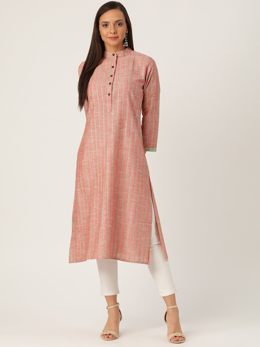 Red And Green Kurta