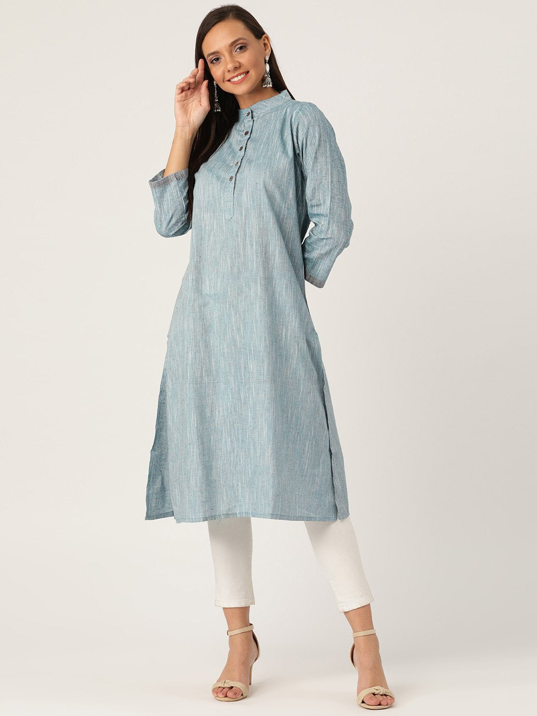 Steel Blue Kurta