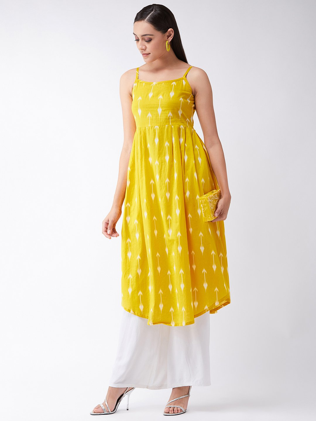 Yellow Arrow Strappy Kurta