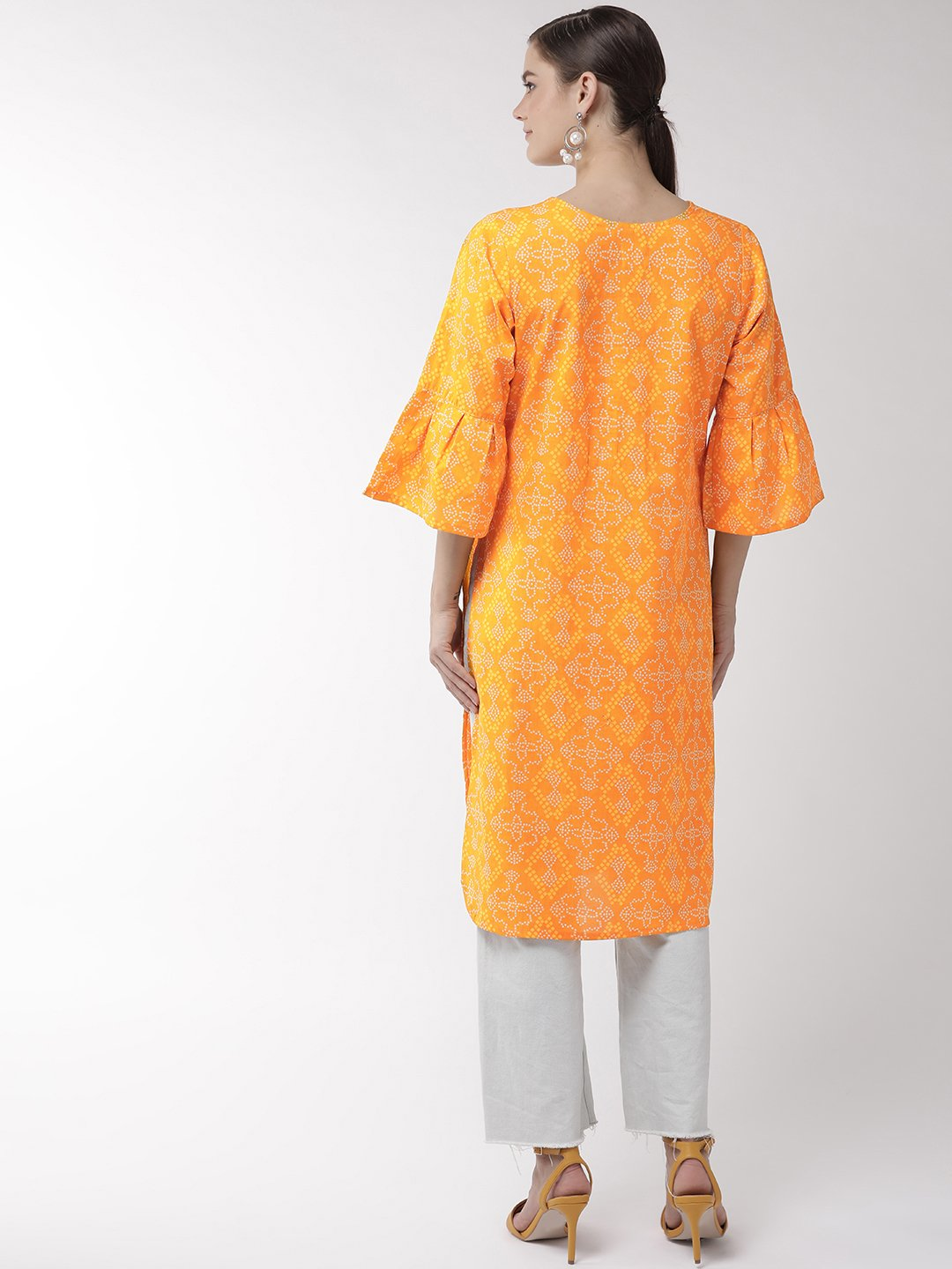 Yellow Bandhini Print Tunic