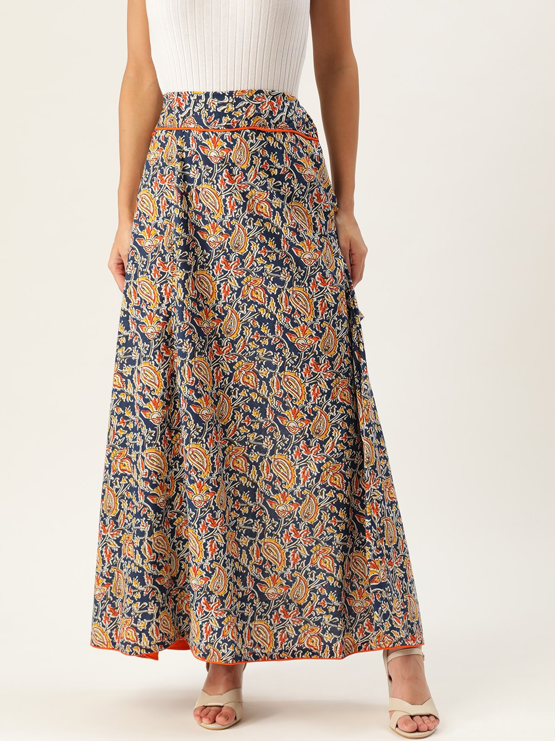 BLUE KALAMKARI SKIRT