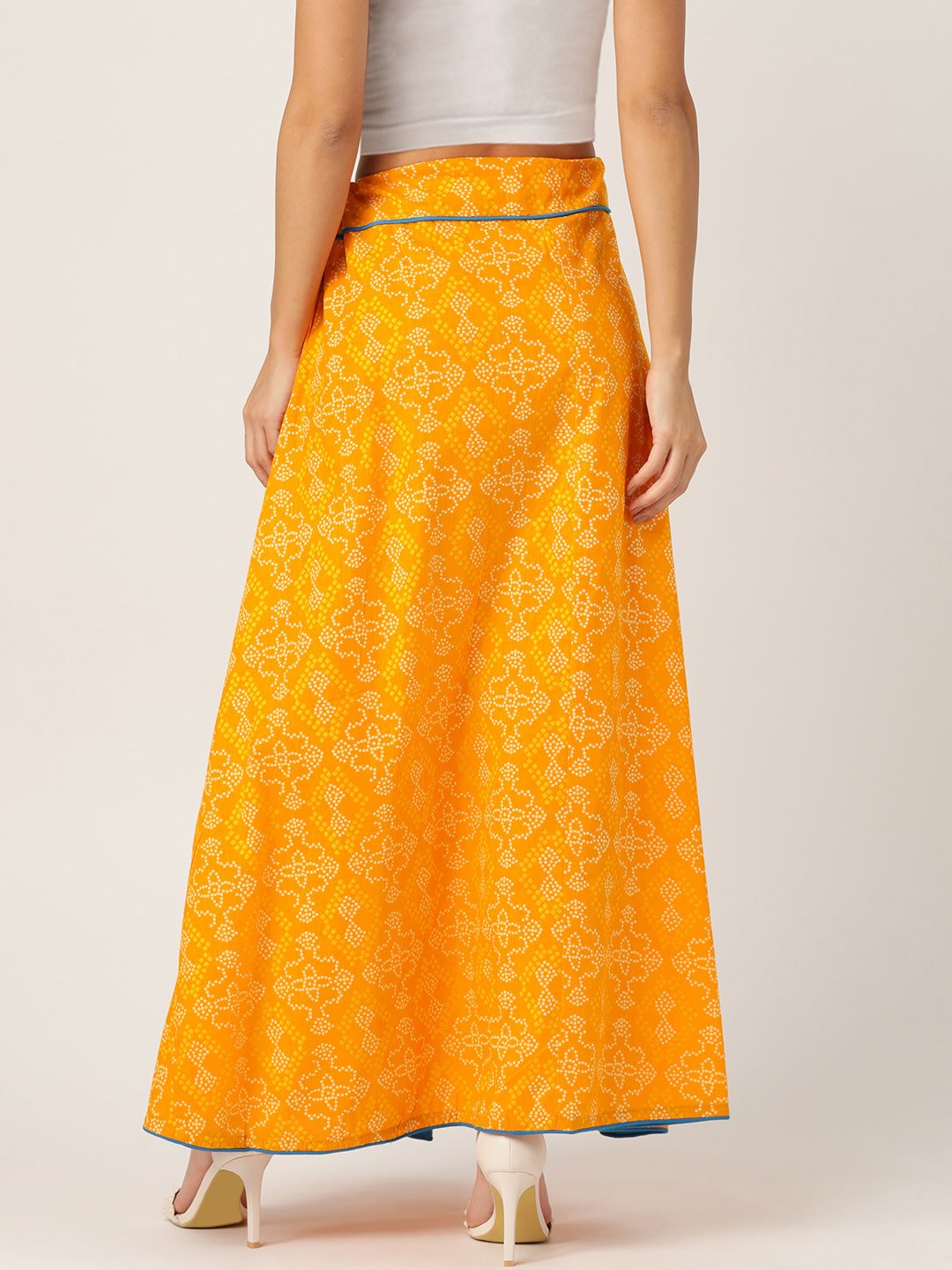 YELLOW BANDHINI SKIRT