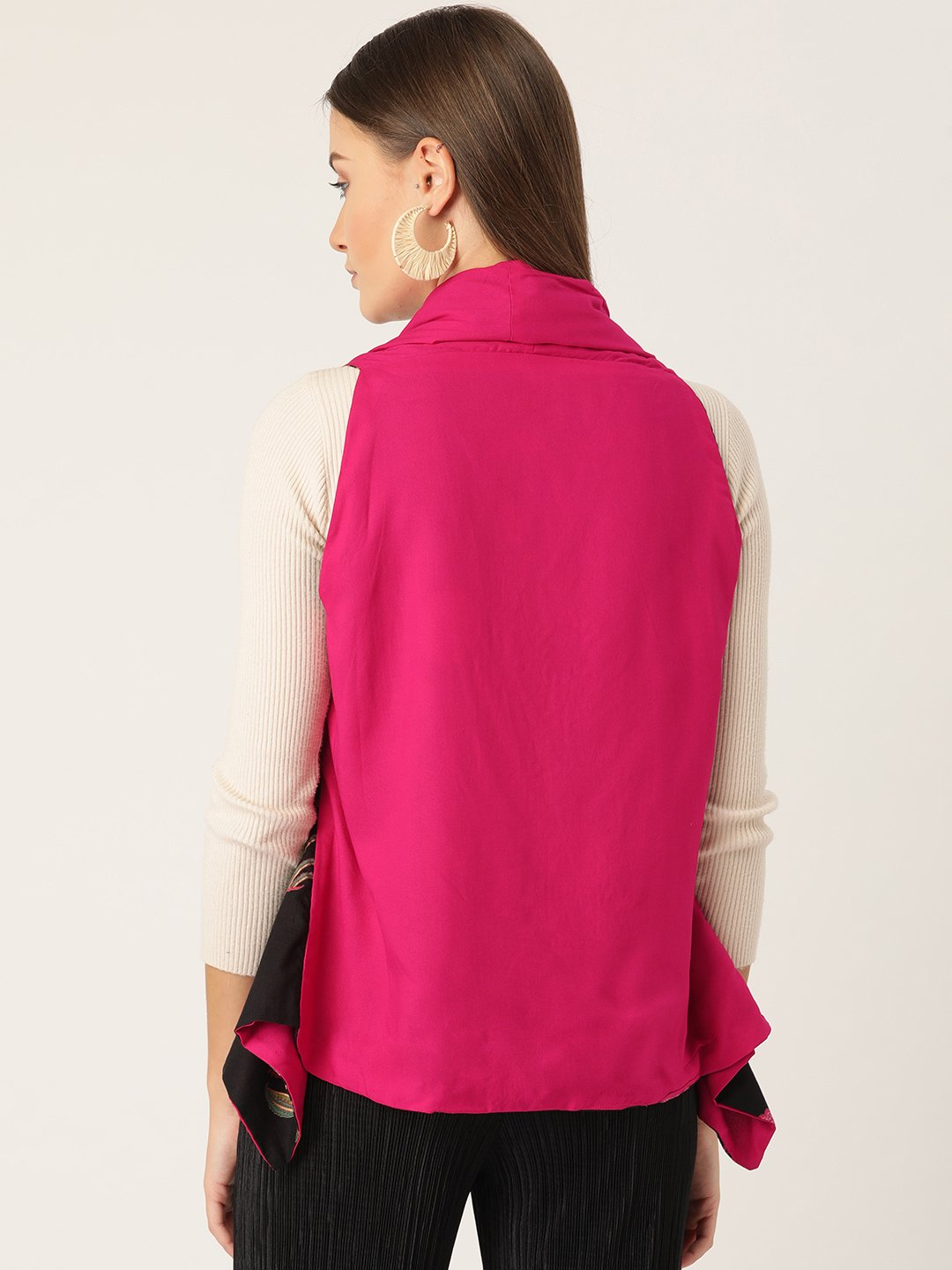 Reversible Shrug Pink & Black