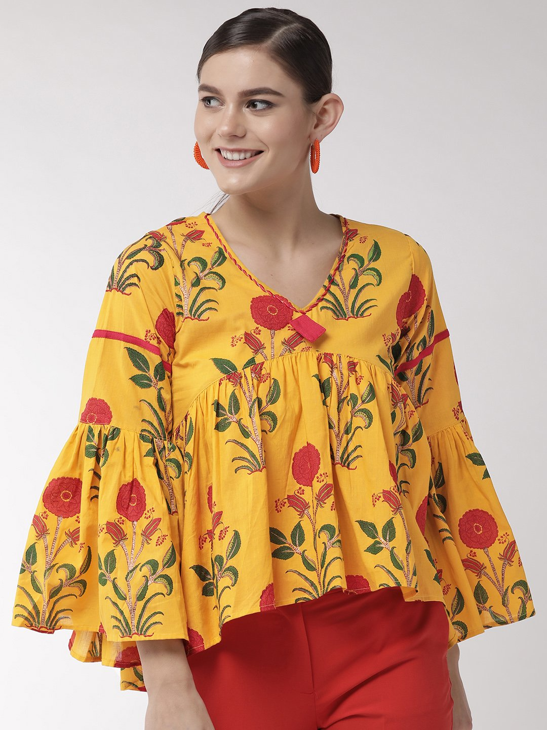 Yellow Flower and Leaf Top