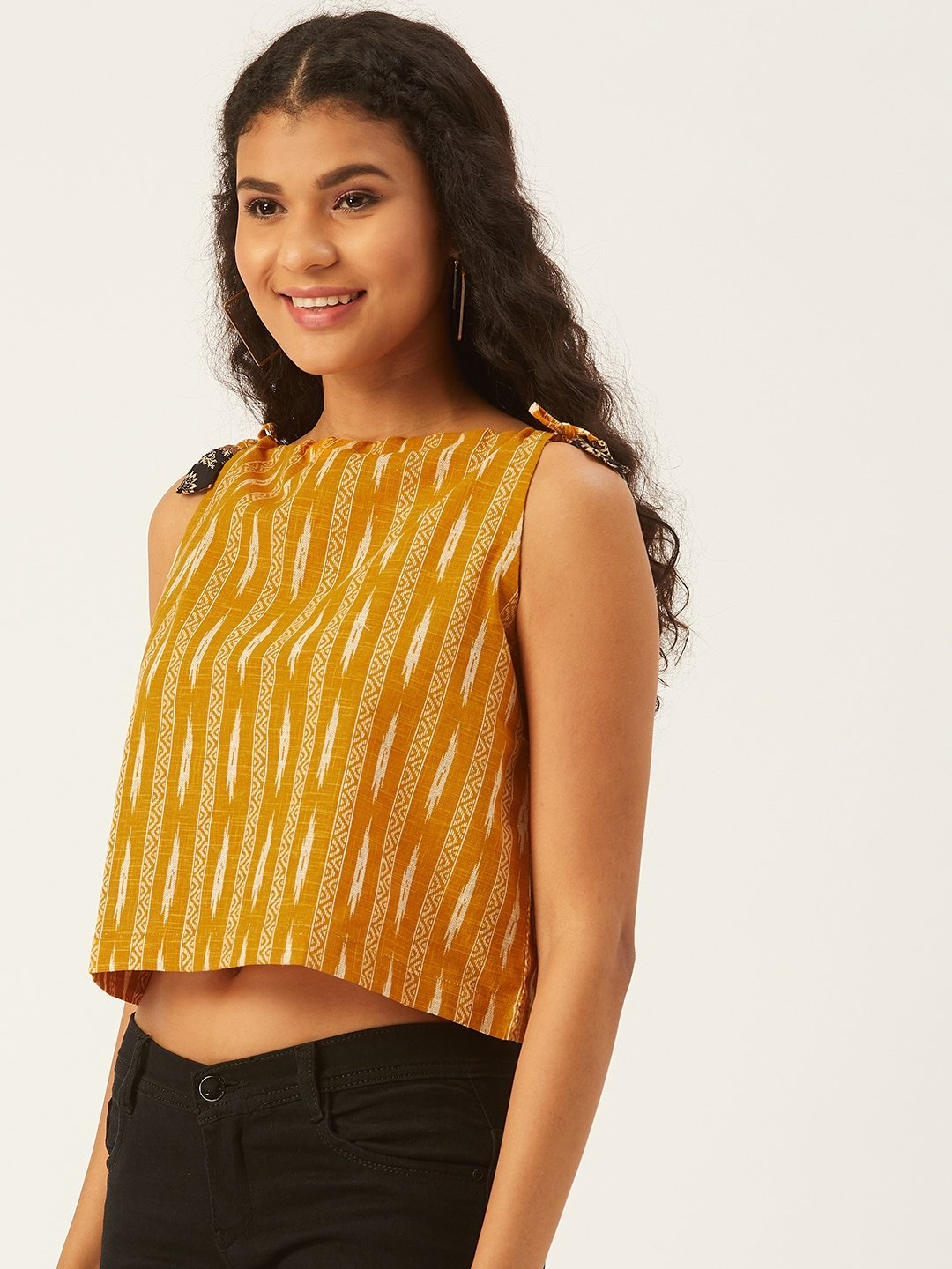 Mustard Halter Neck Top