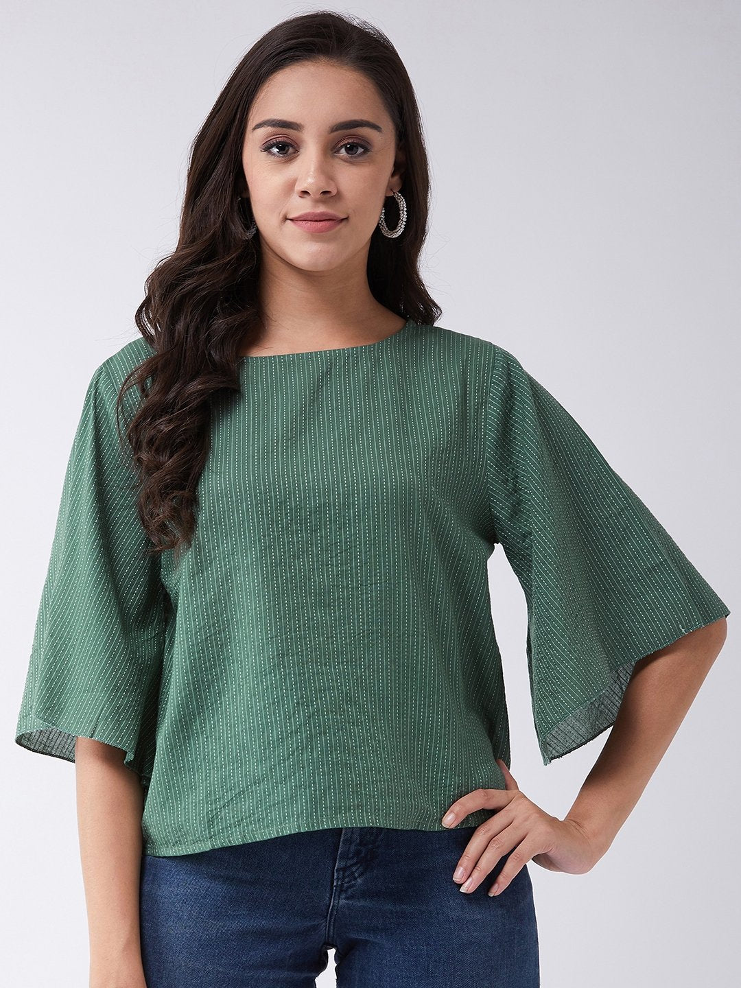 Green Kantha Top
