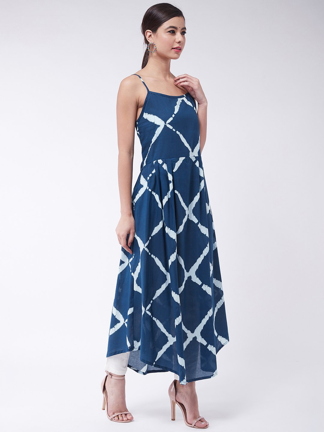 Indigo Criss Cross Strappy Kurta