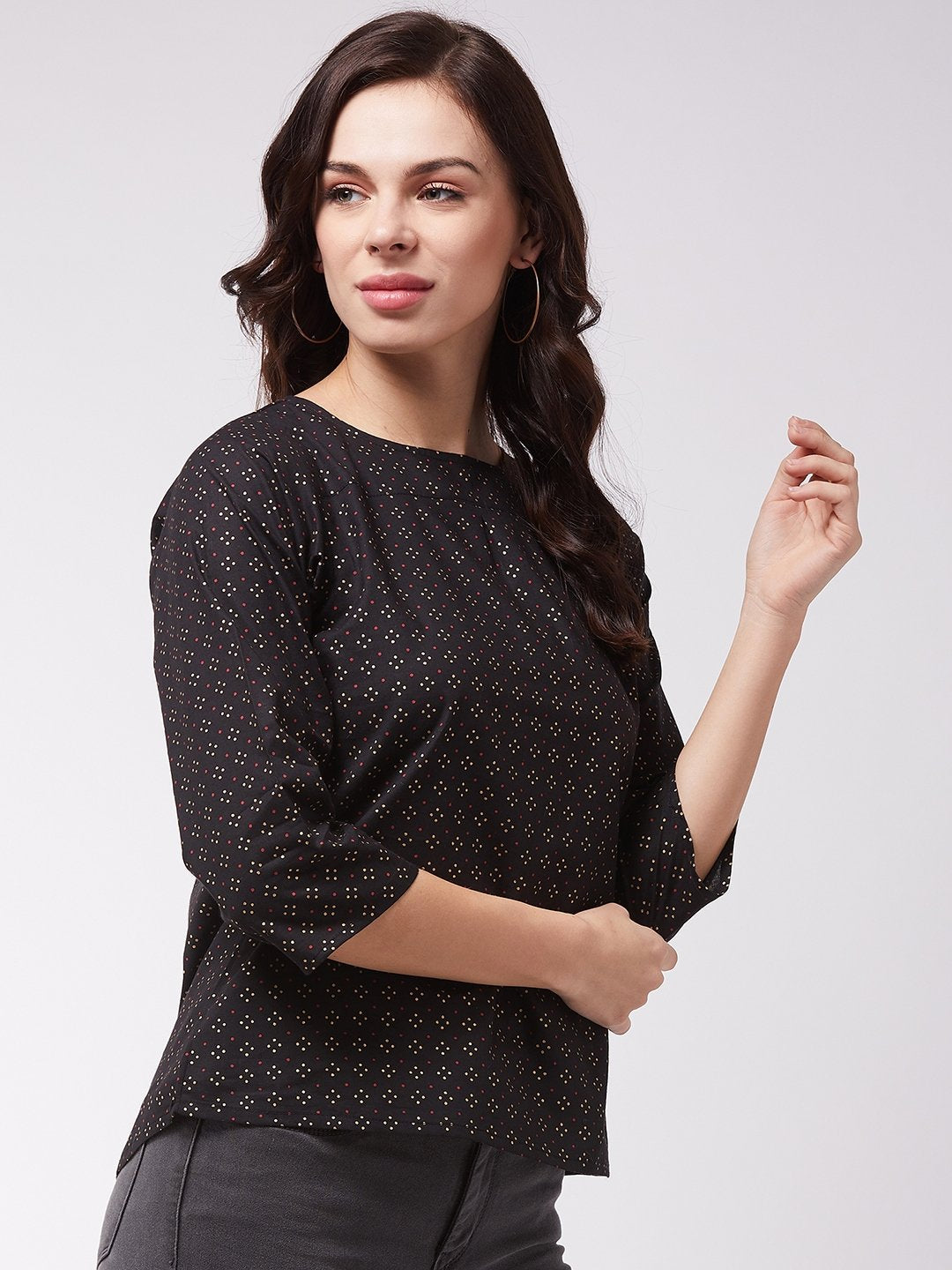 Black Pin Dot Top
