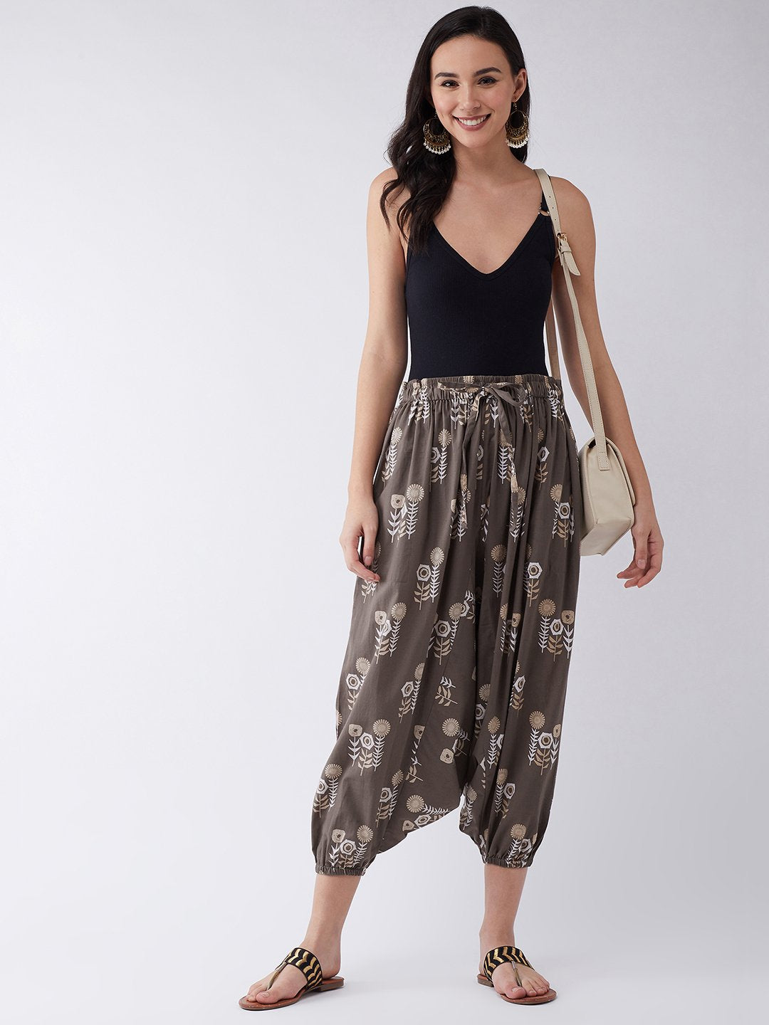 Coffee Brown Harem Pant
