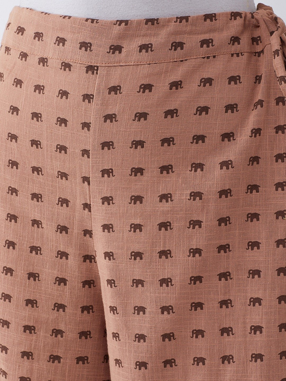 Pallazo In Brown Elephant Print