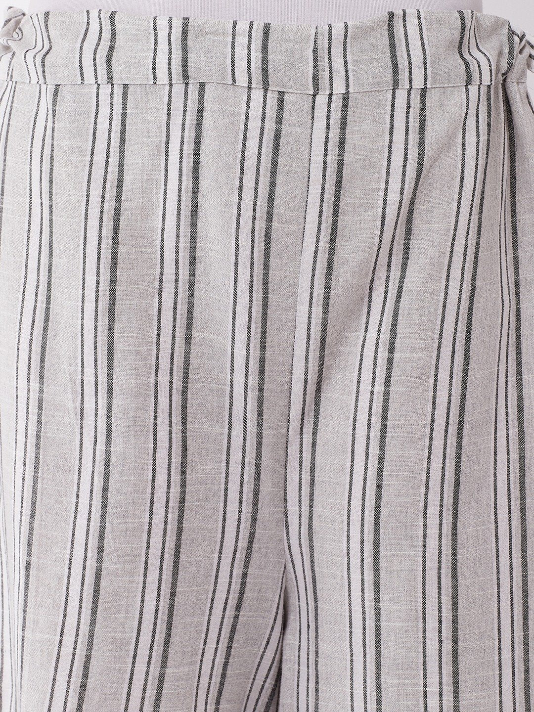 Black White Stripes Handloom Palazzo