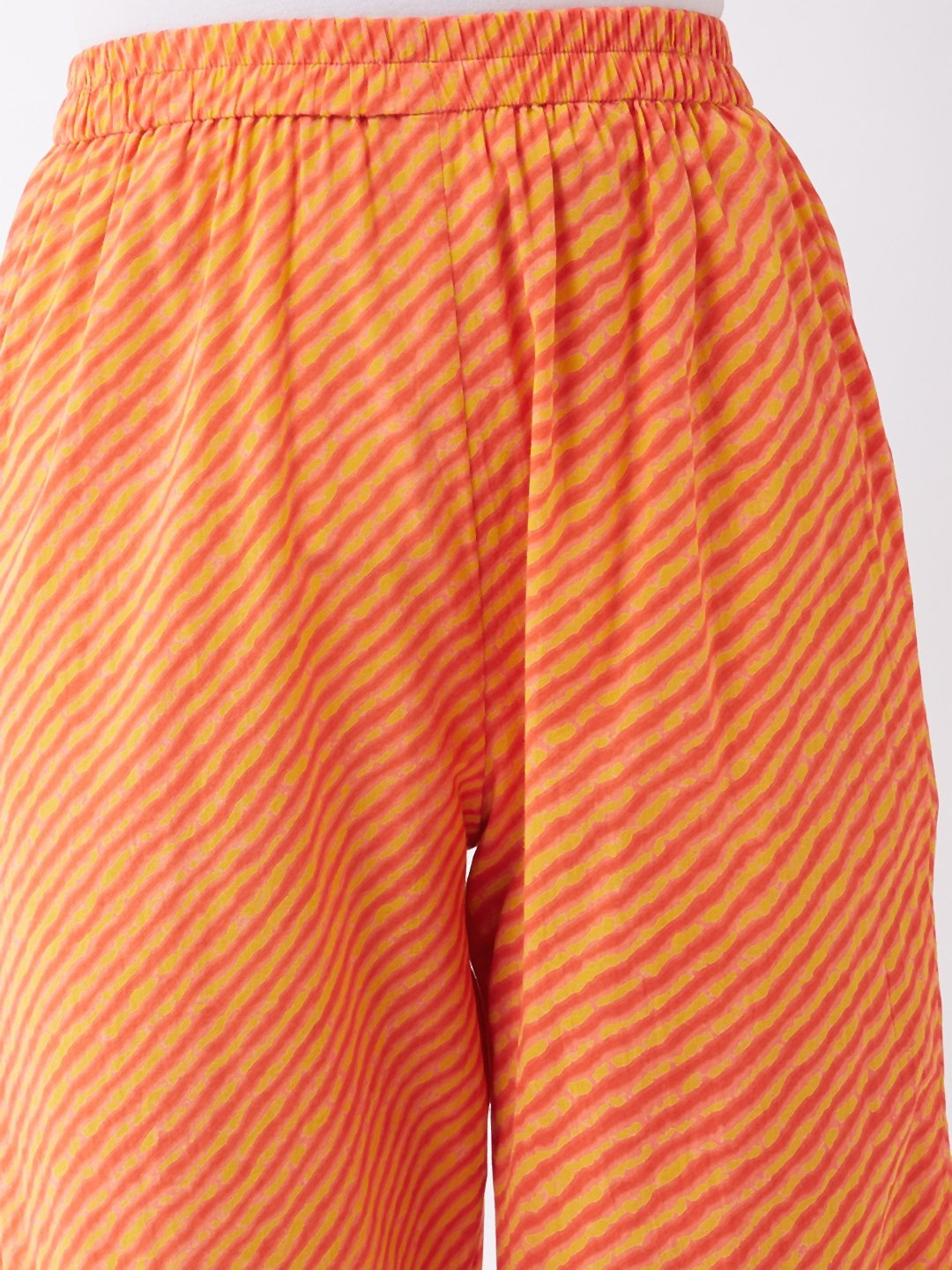 Orange Mustard Lahriya Pant