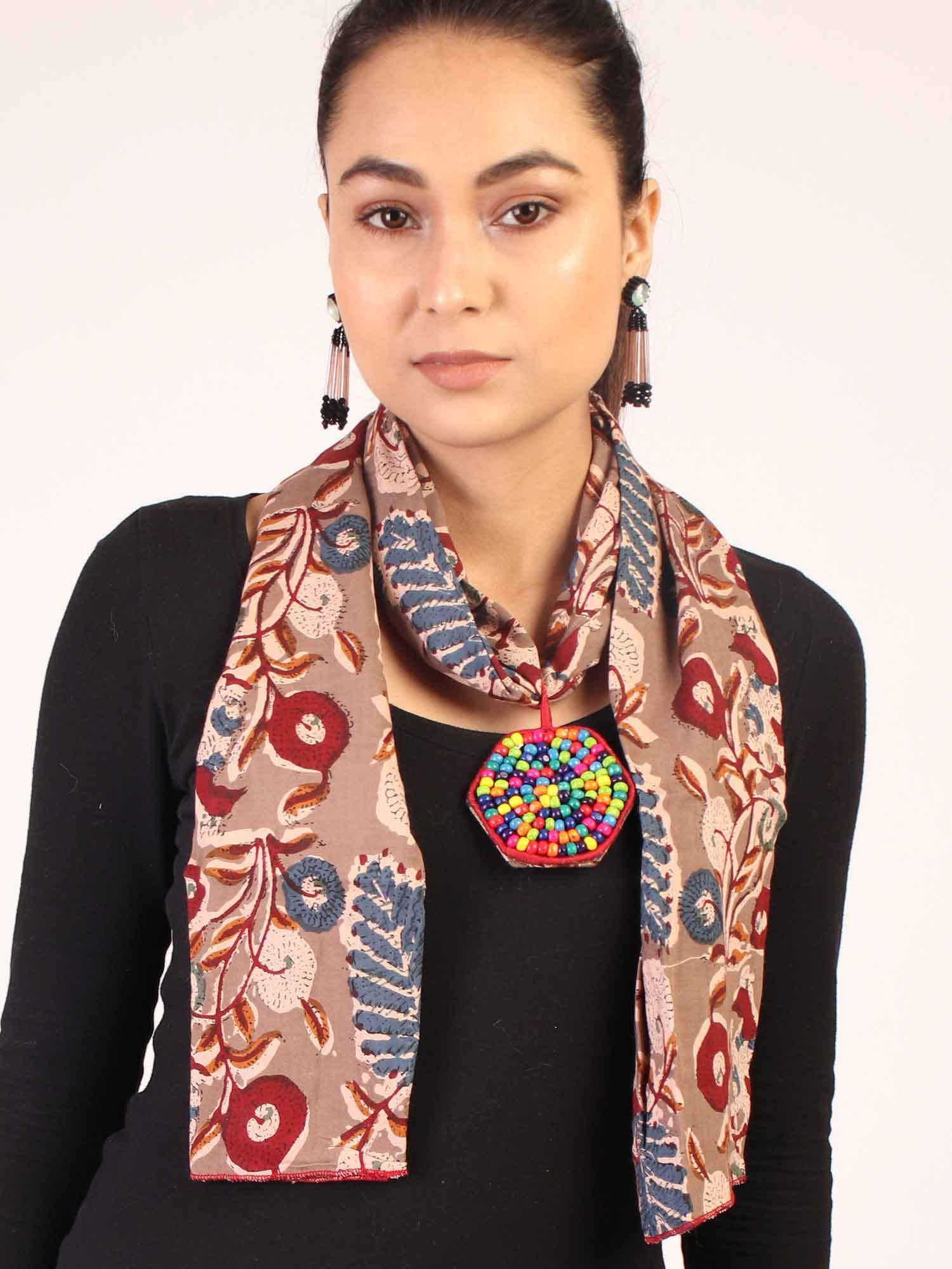 Brown Traditional Stole Neckpiece