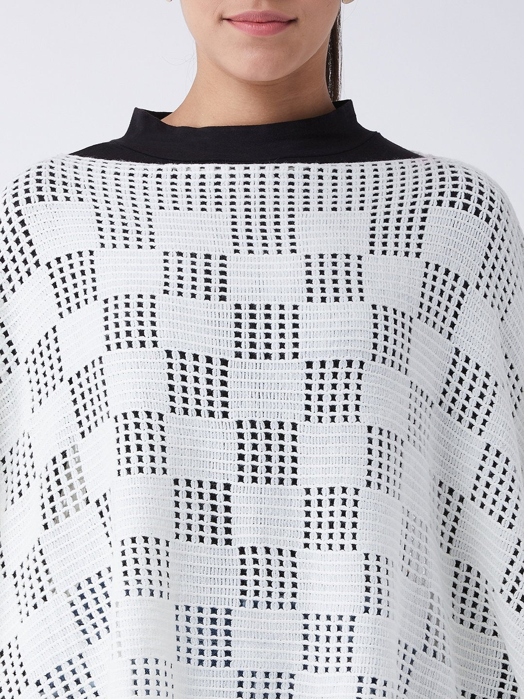 Off White Net Poncho