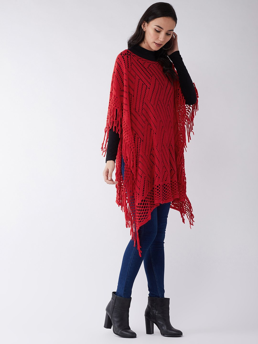 Red Net Poncho