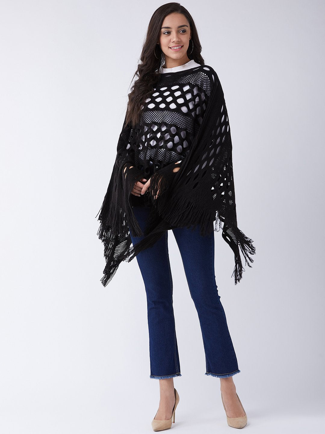 Black Key Hole Poncho