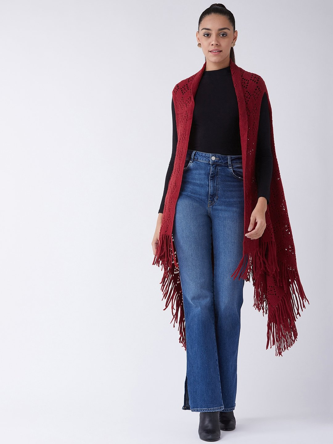Maroon Winter Shrug