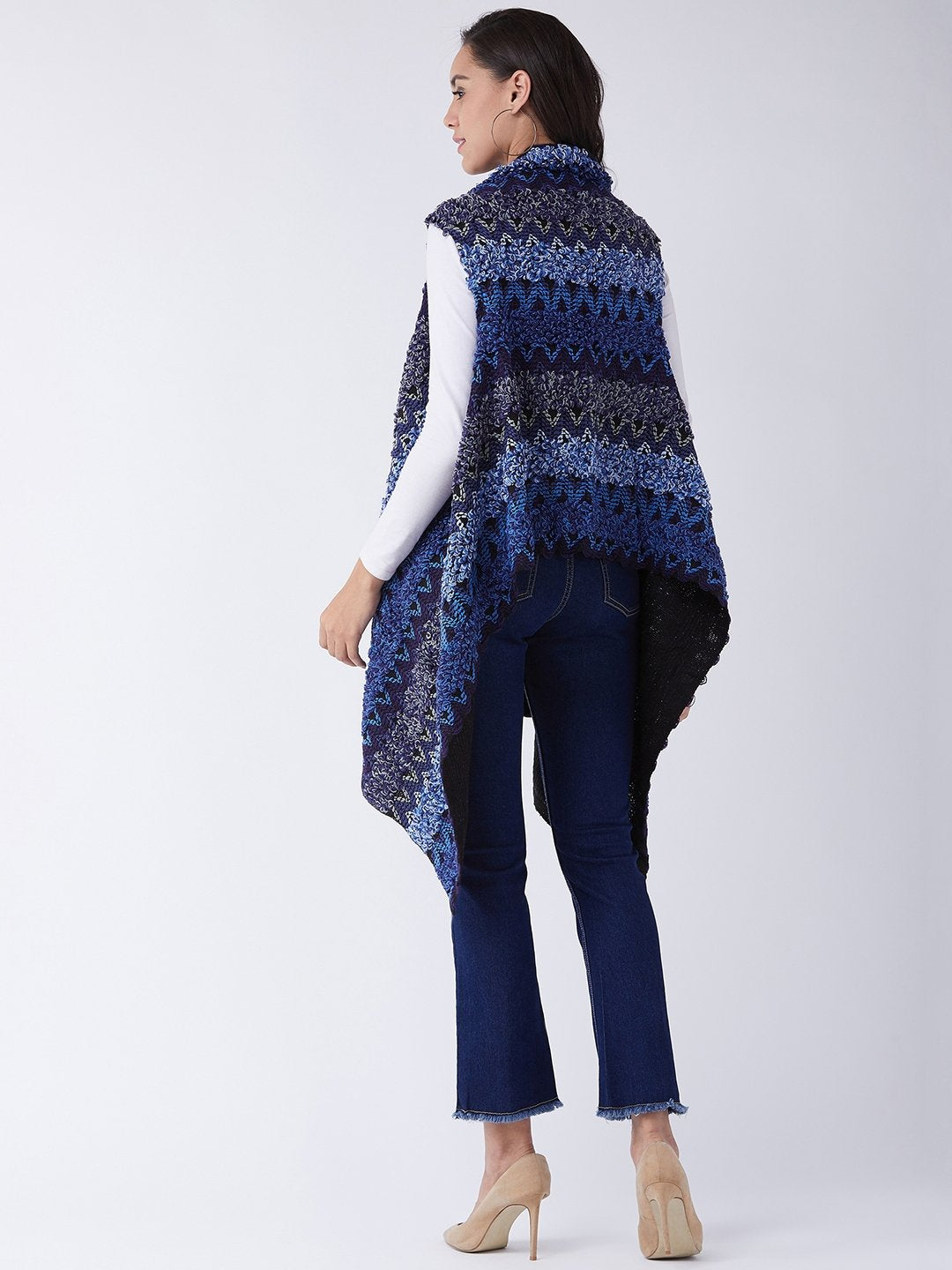 Hues of Blue Winter Shrug
