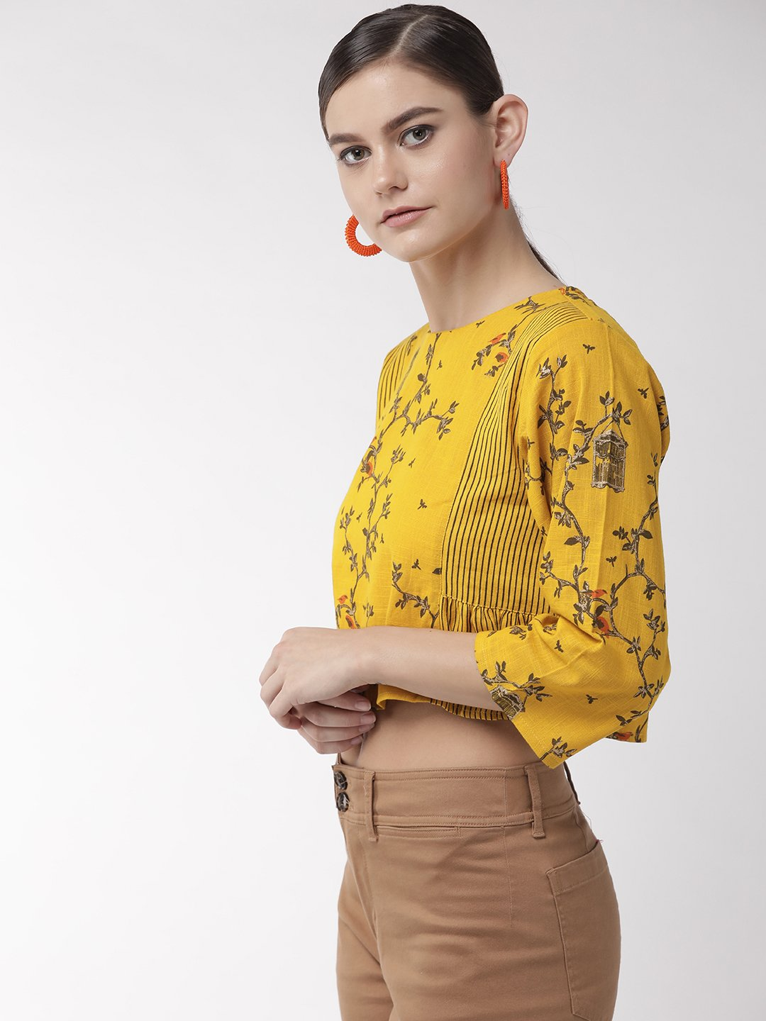 Yellow Nest Crop Top