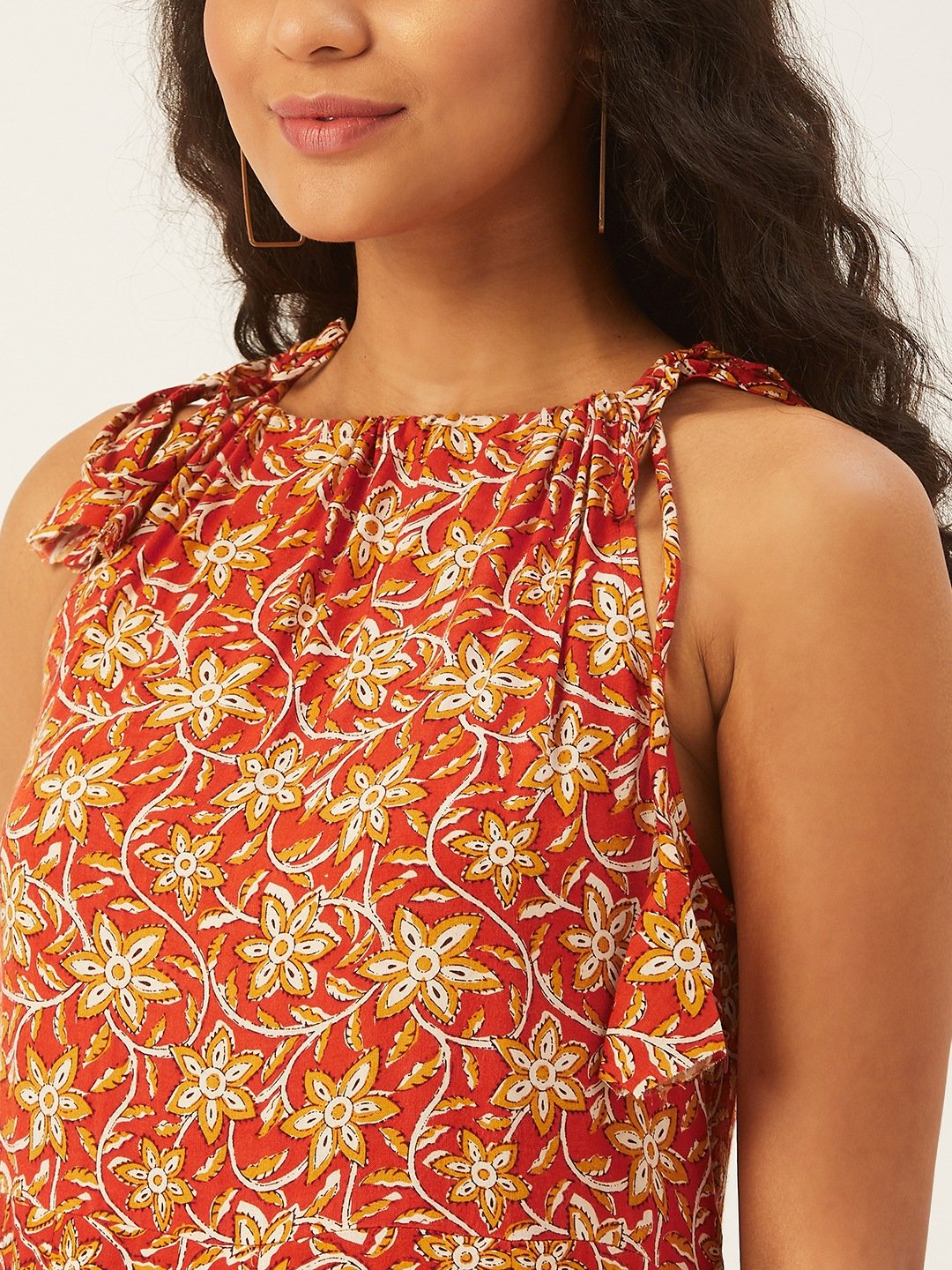 Halter In Orange And Mustard