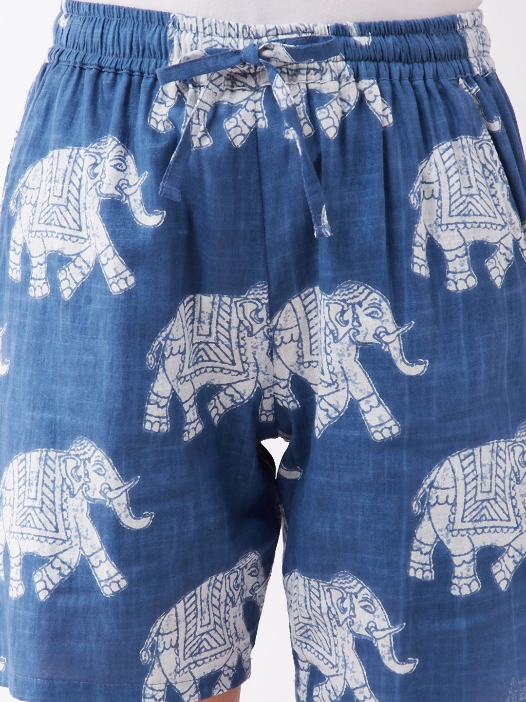 Light Blue Elephant Shorts