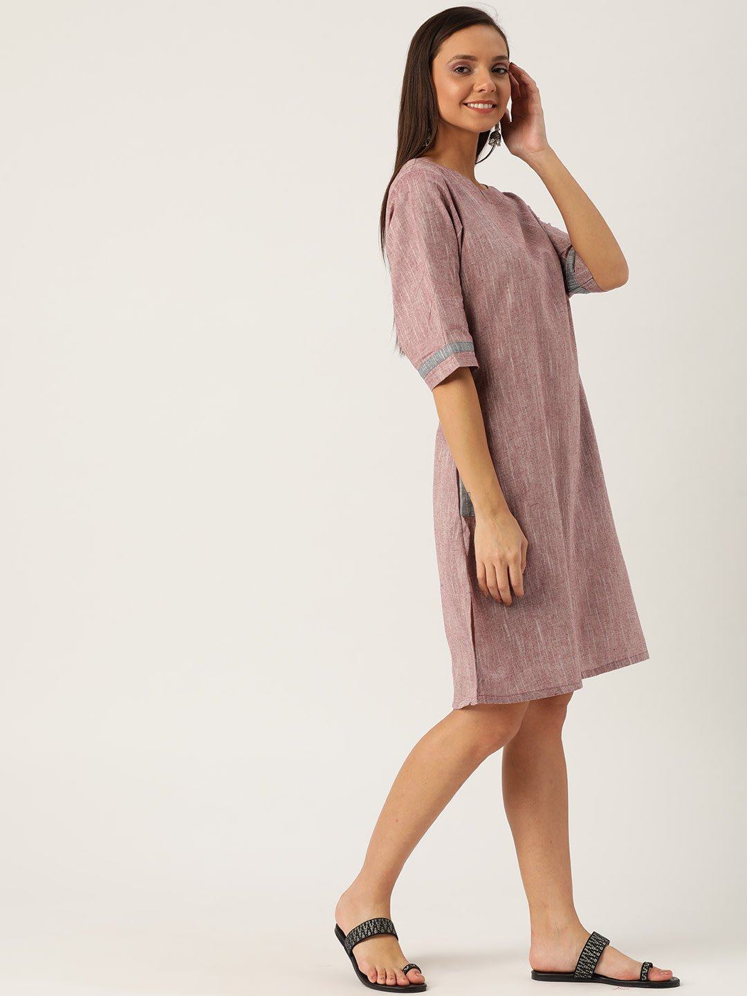 LIGHT BRANDY DRESS
