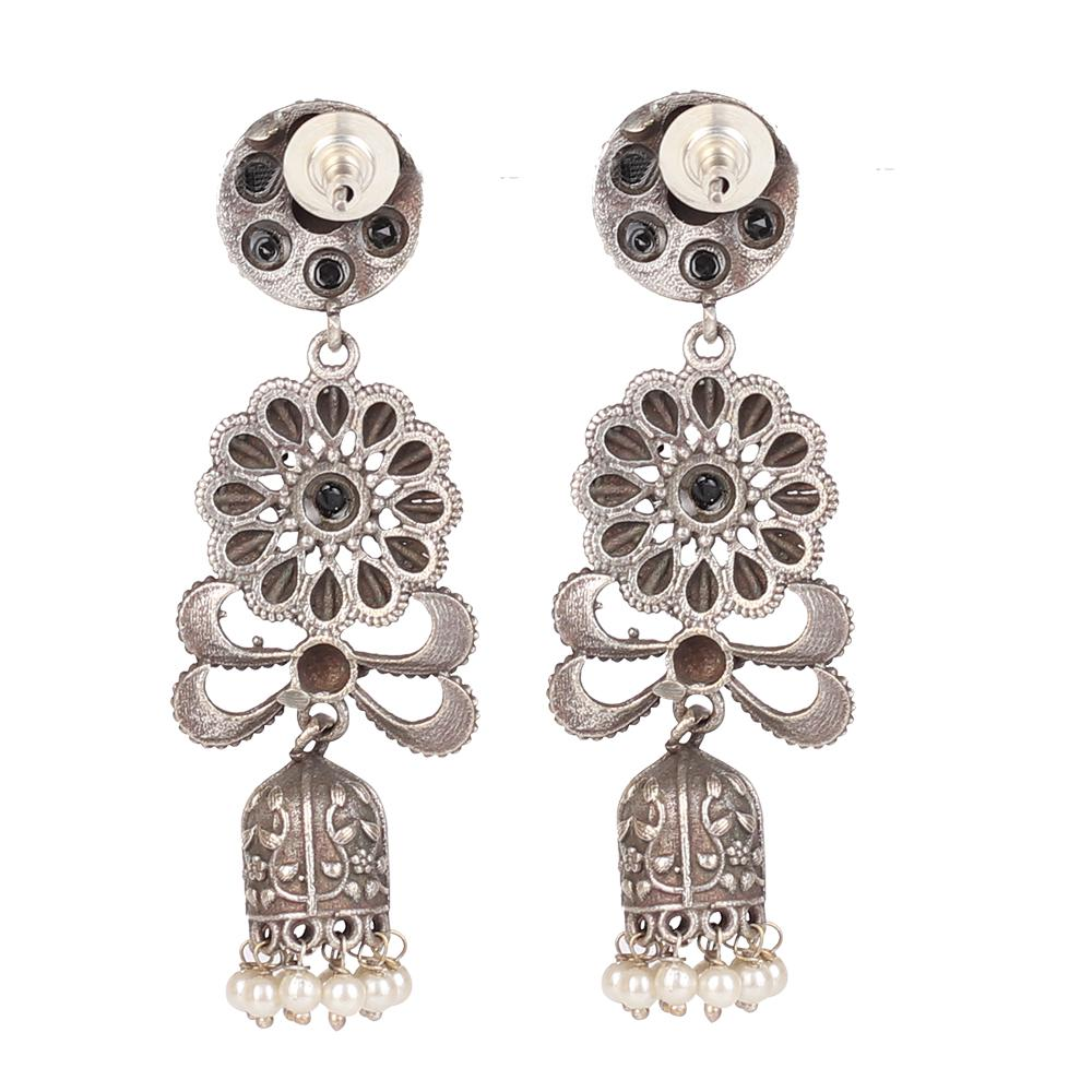 Long Jaal Earings With Stones