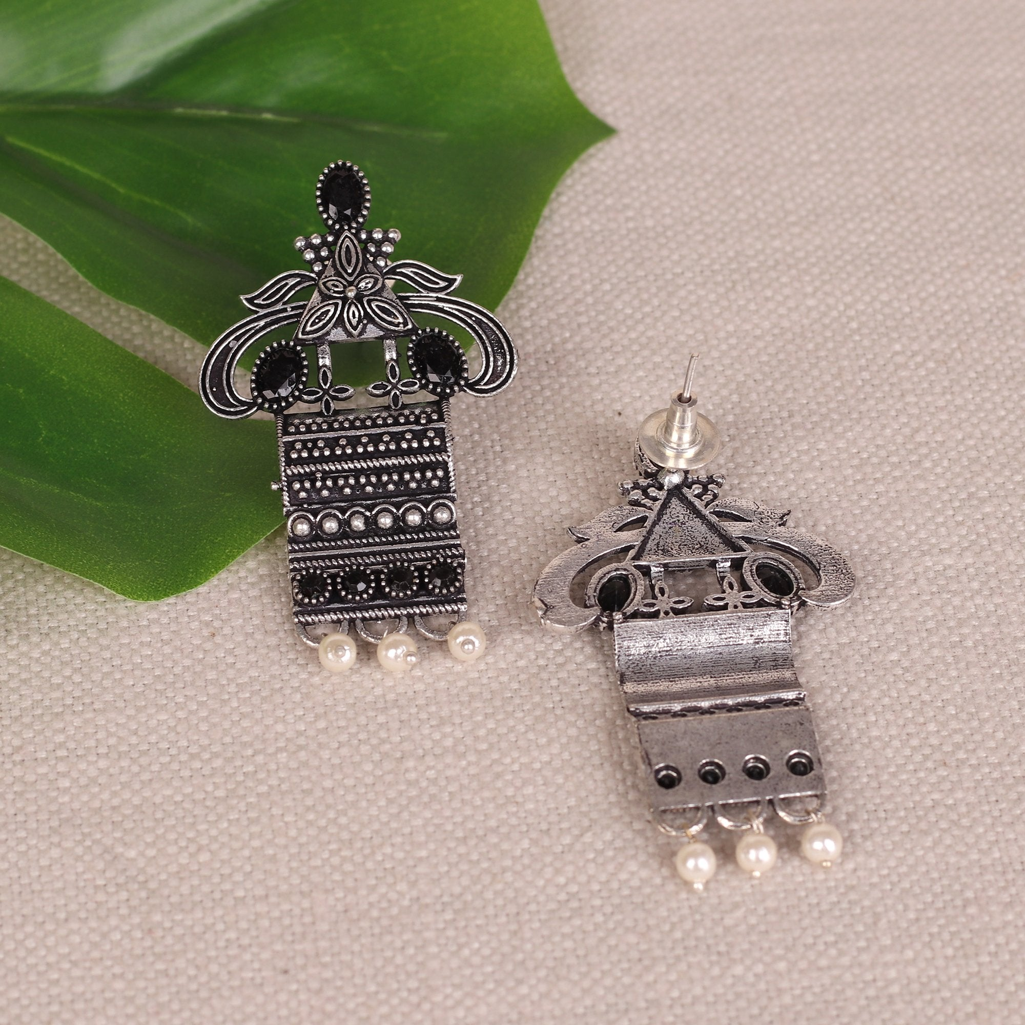 German Silver Ethnic Motif Earings