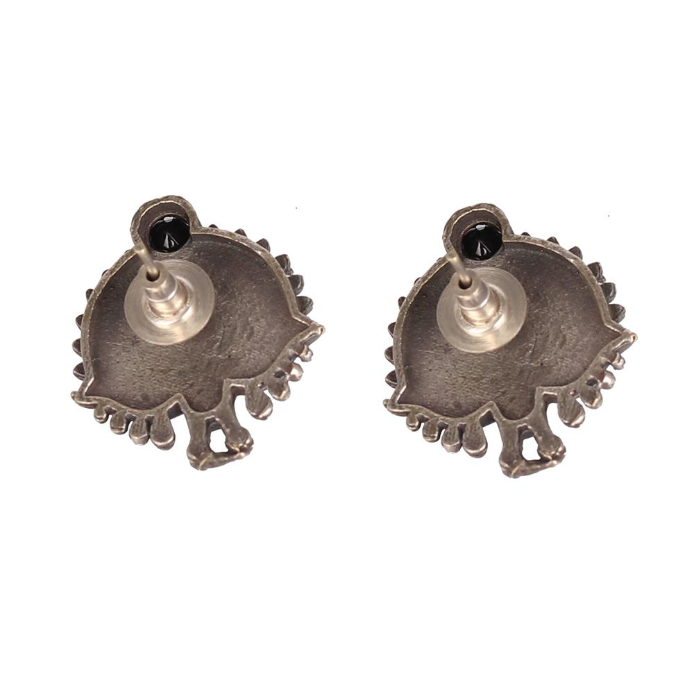 German Silver Earings With Bird Motif