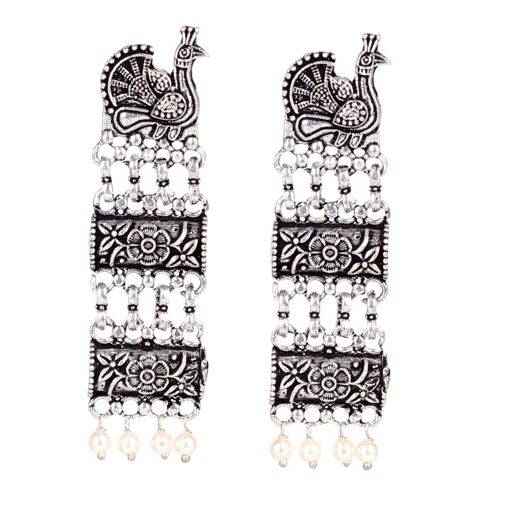 Bird Motif Earings In German Silver