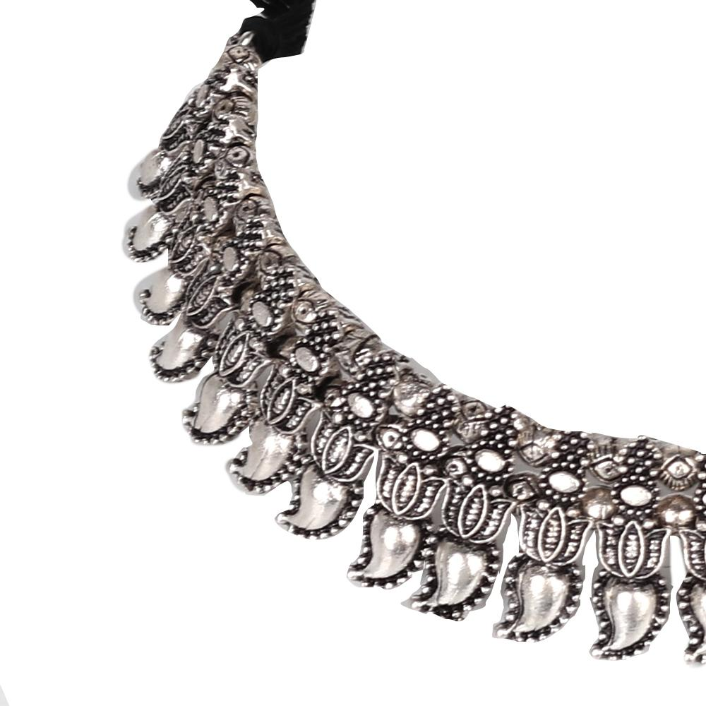 Tribal Art Oxidised Neckpiece