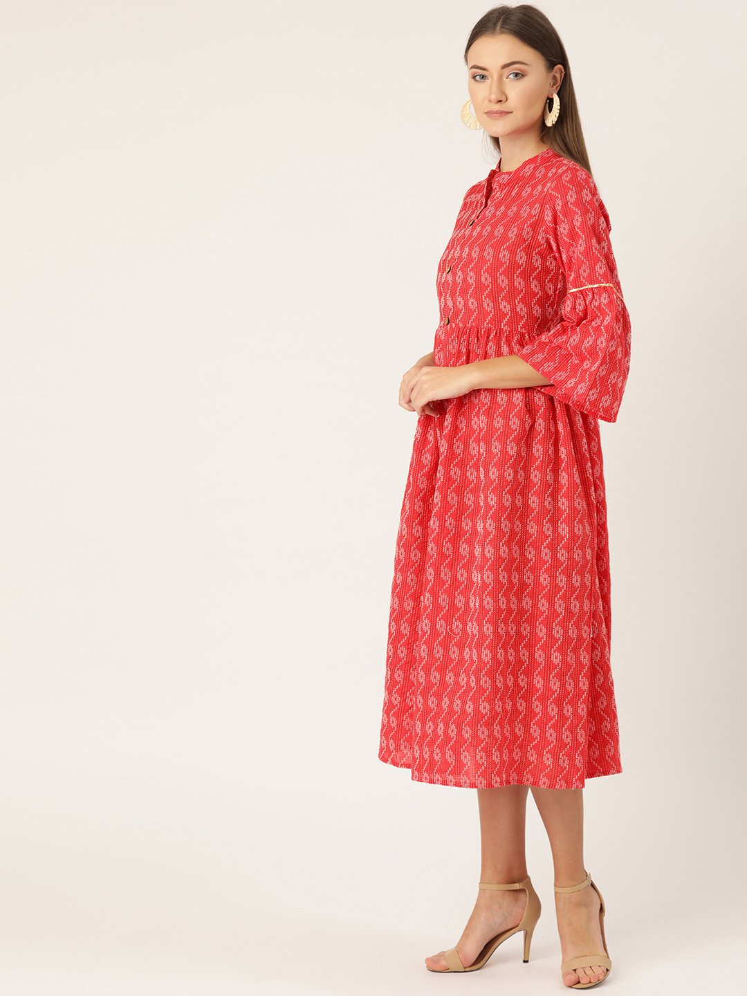 Red Kantha Dress