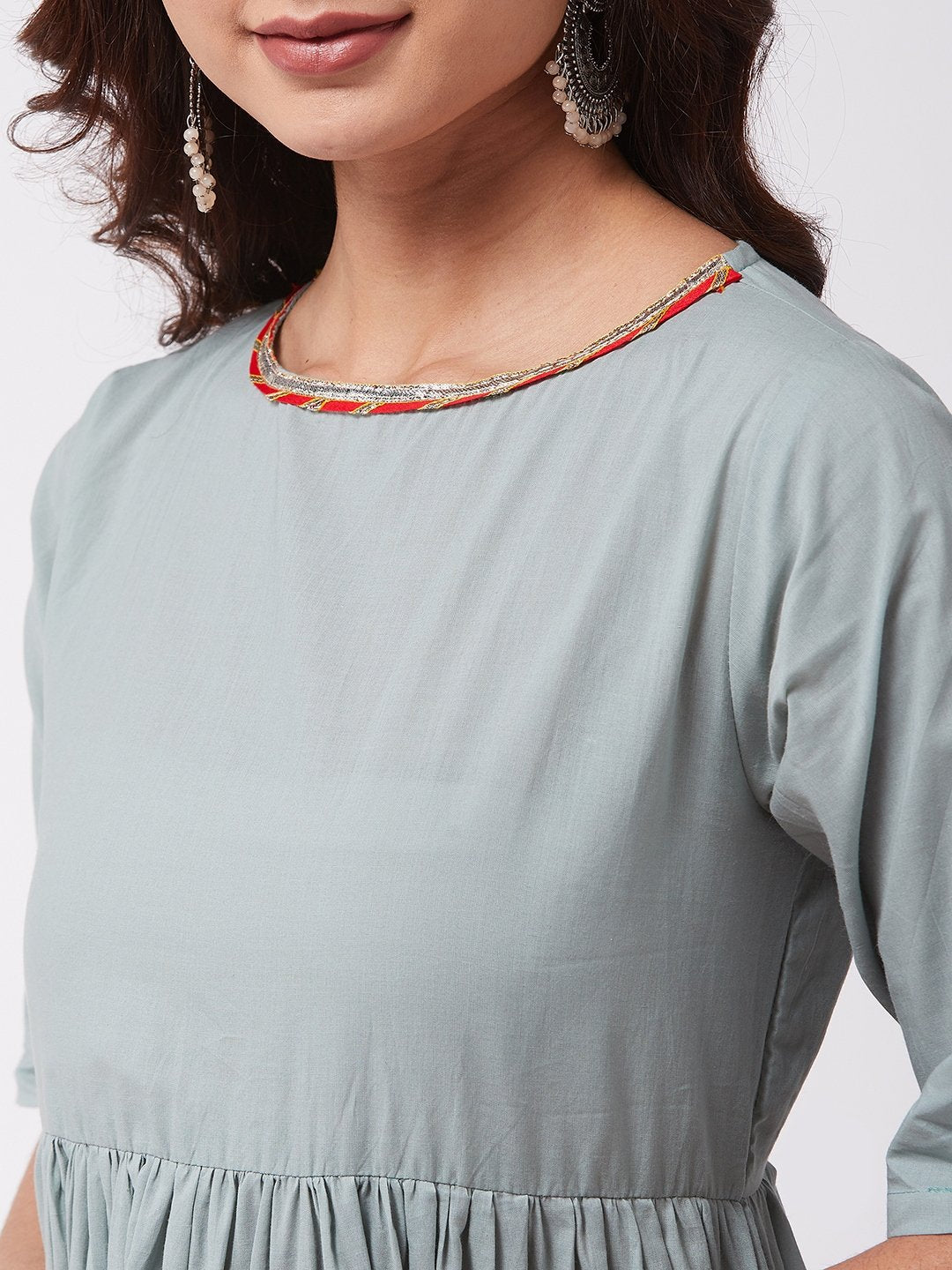 Teal Green Kurta Sharara Set