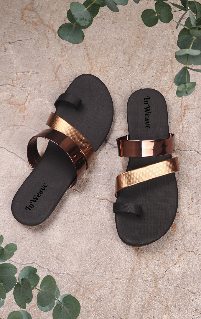 Copper-toned Strappy Chappals