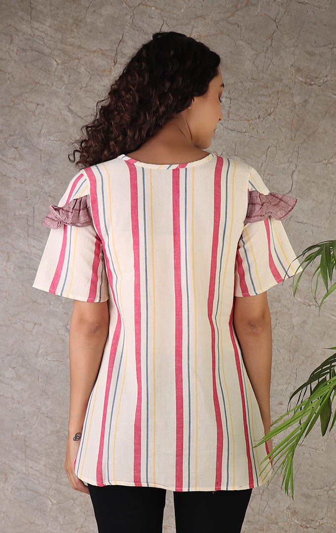 Pink Stripes Cotton Top