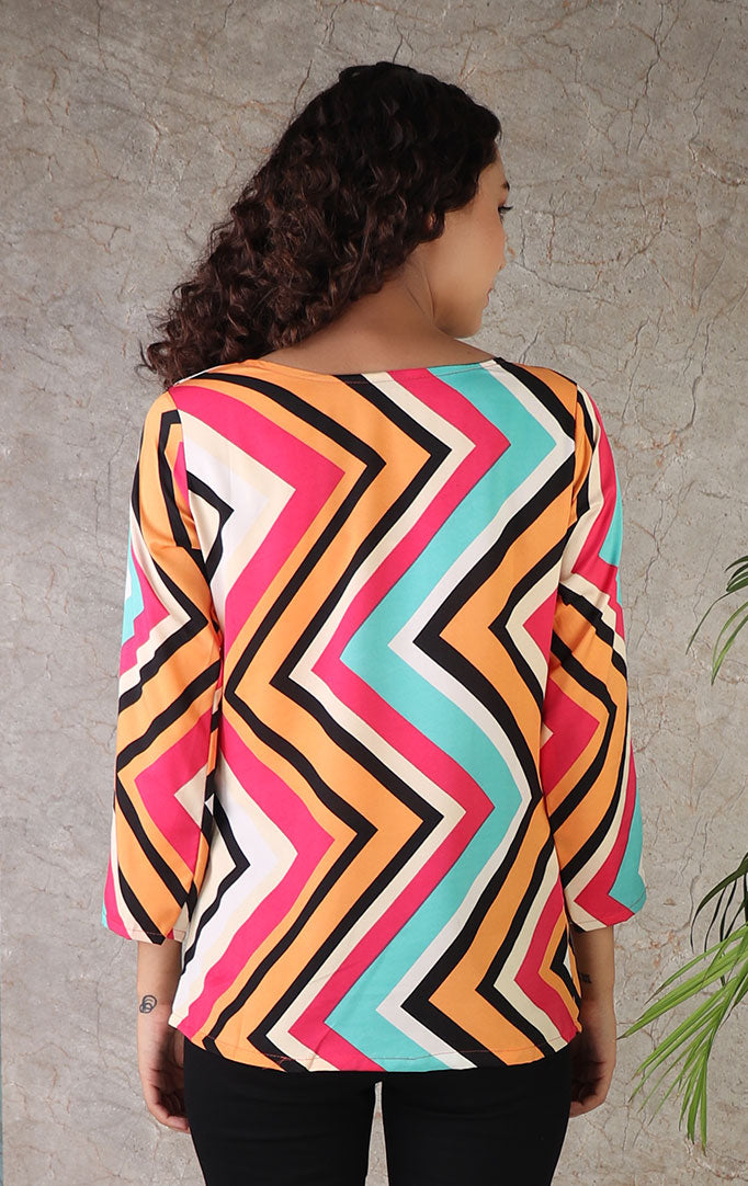Zig That Zag Color Punch Top