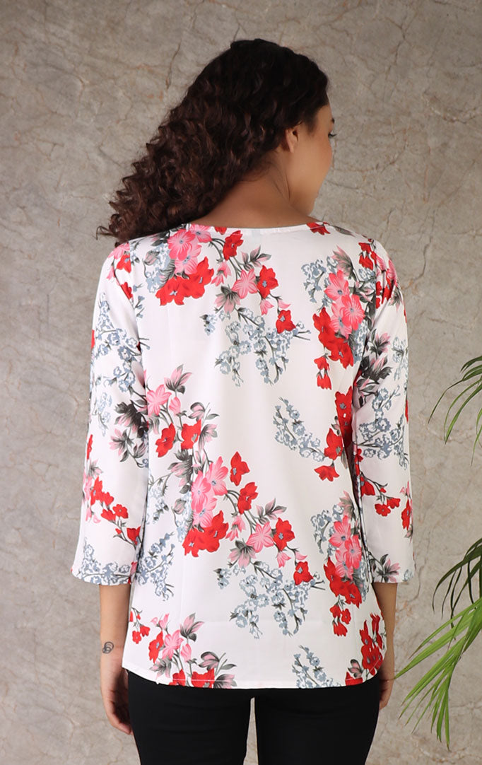 I LOVE LILIES Boat Neck Top