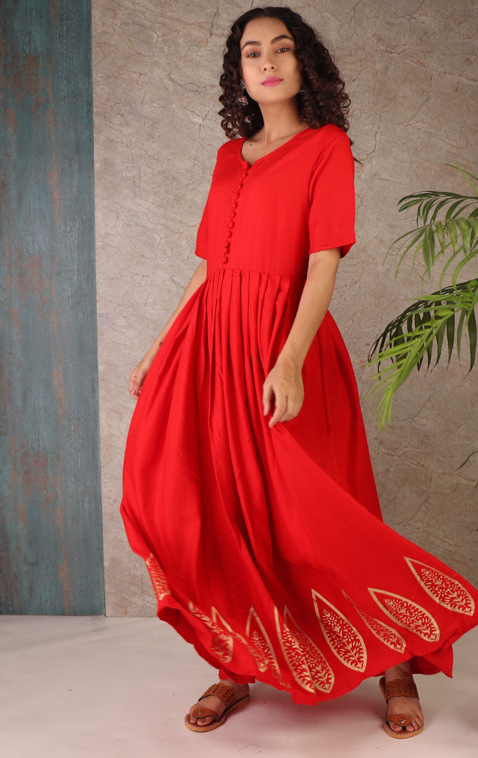 Seeking  Love Anarkali Dress