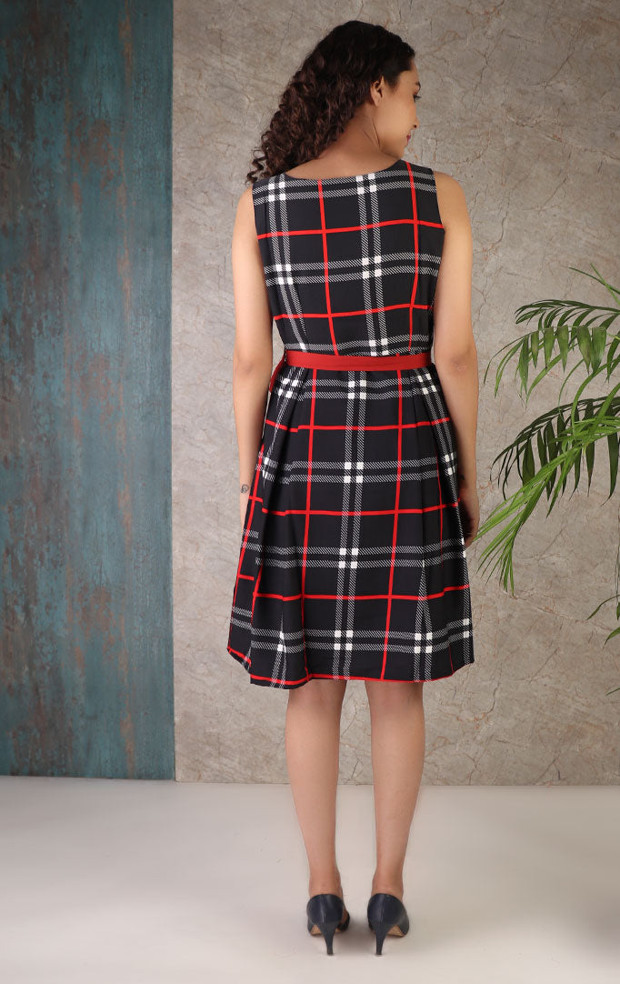 Just Love Checks Skater Dress