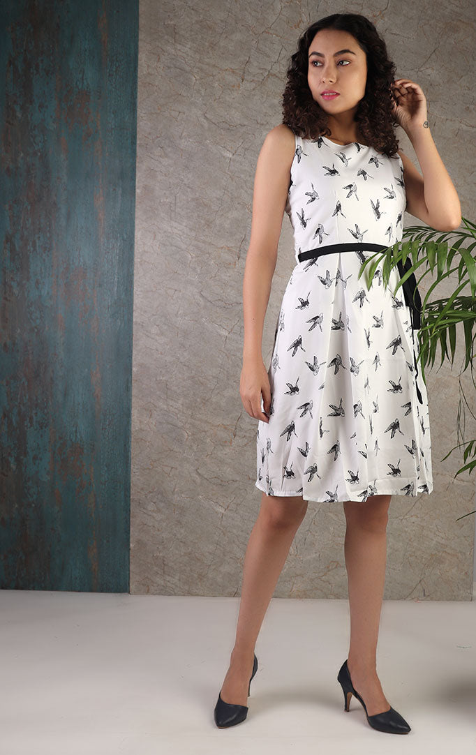 Free Like A Bird Skater Dress