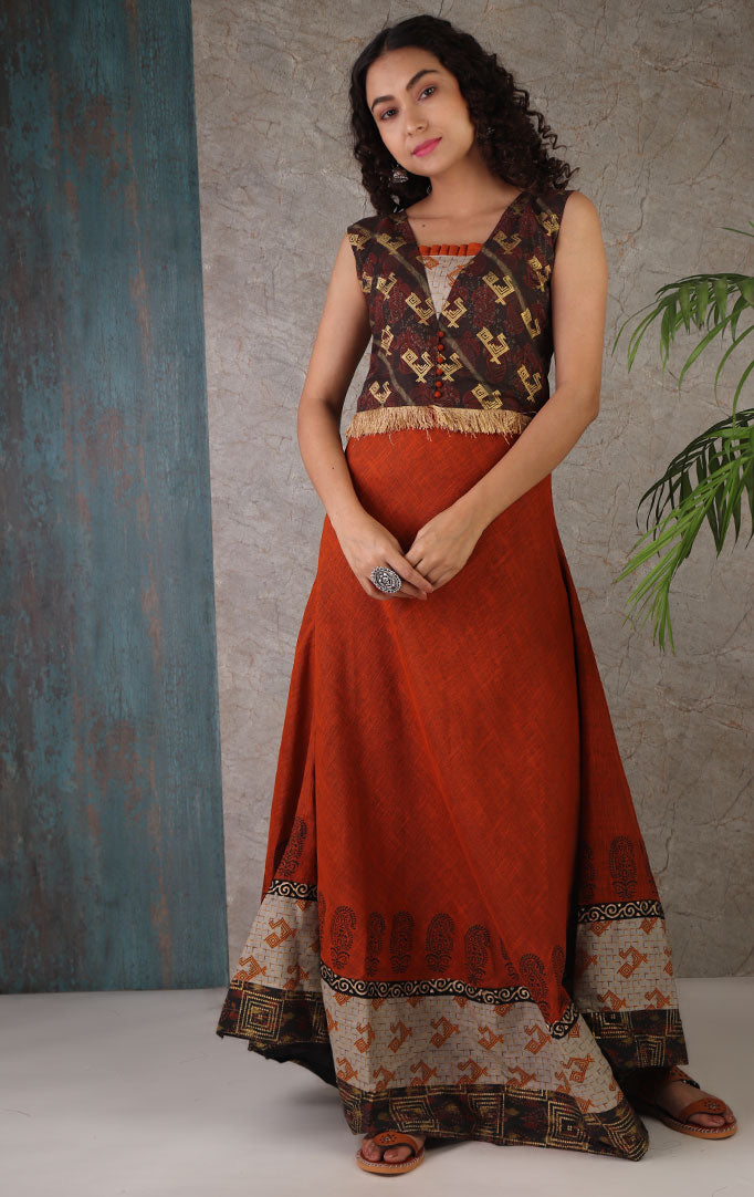 Printed Dress With Dupatta