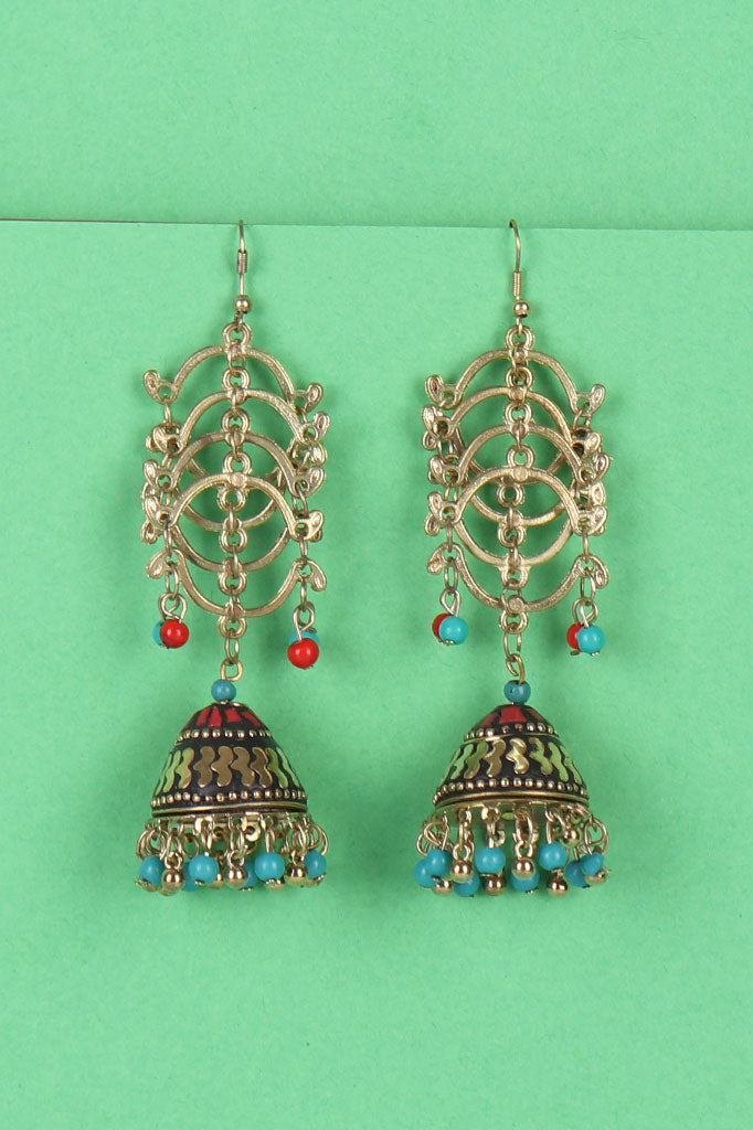 Beaded Jhoomer Earrings