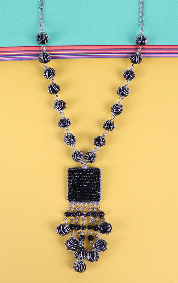 Shaded Beads Necklace Set