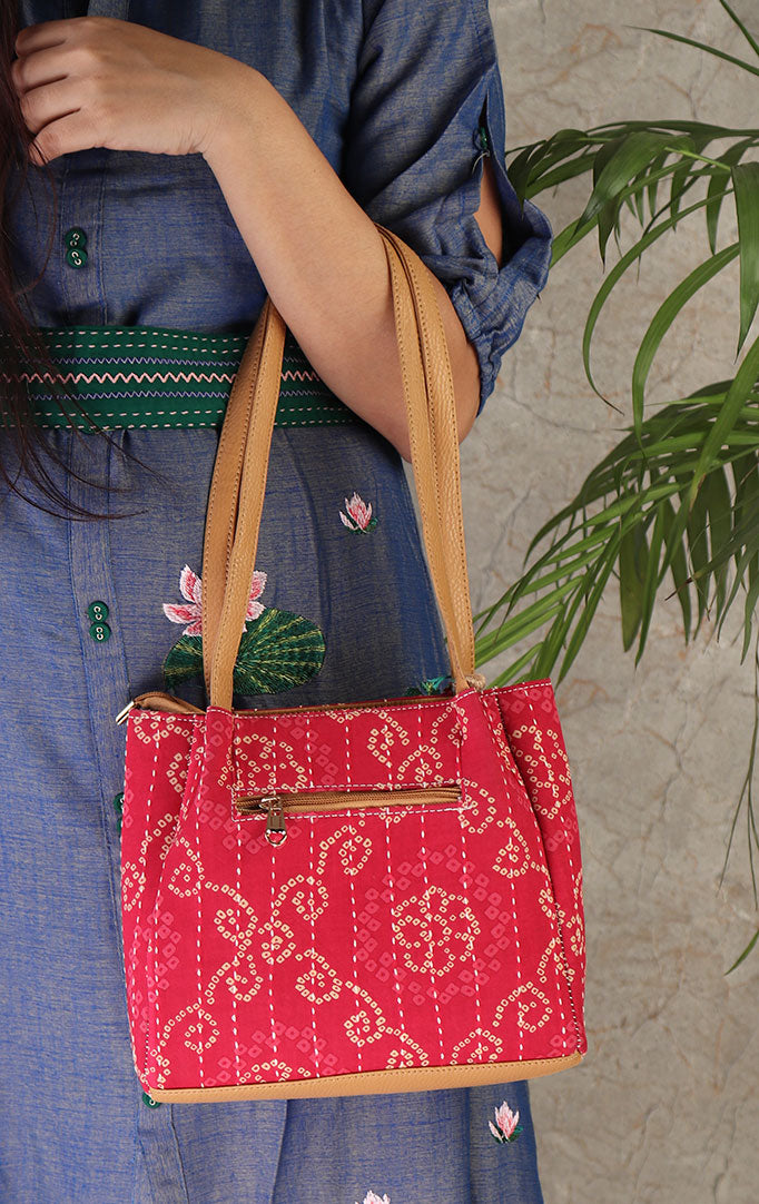 Rajasthan Memories Hand Bag In Pink