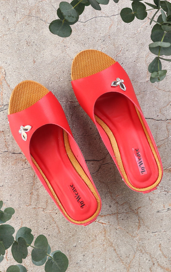 Red flip-flop Wedges