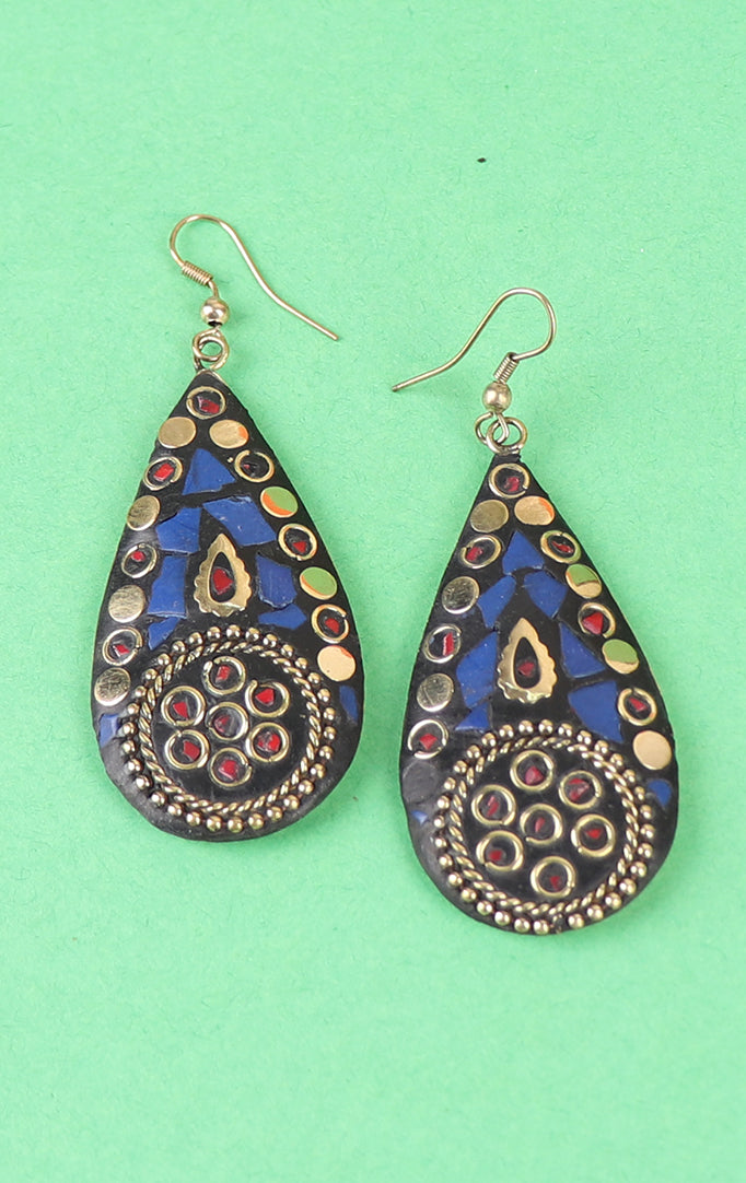 Blue Drop-shaped Earrings