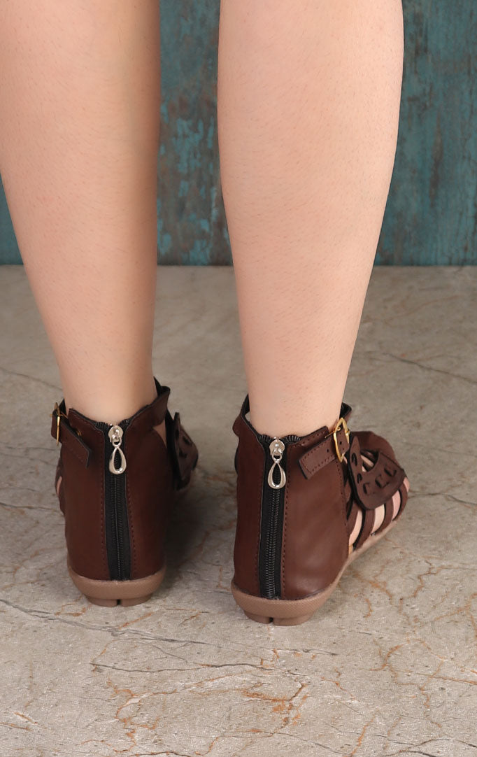 Chocolate Brown Gladiator Sandals