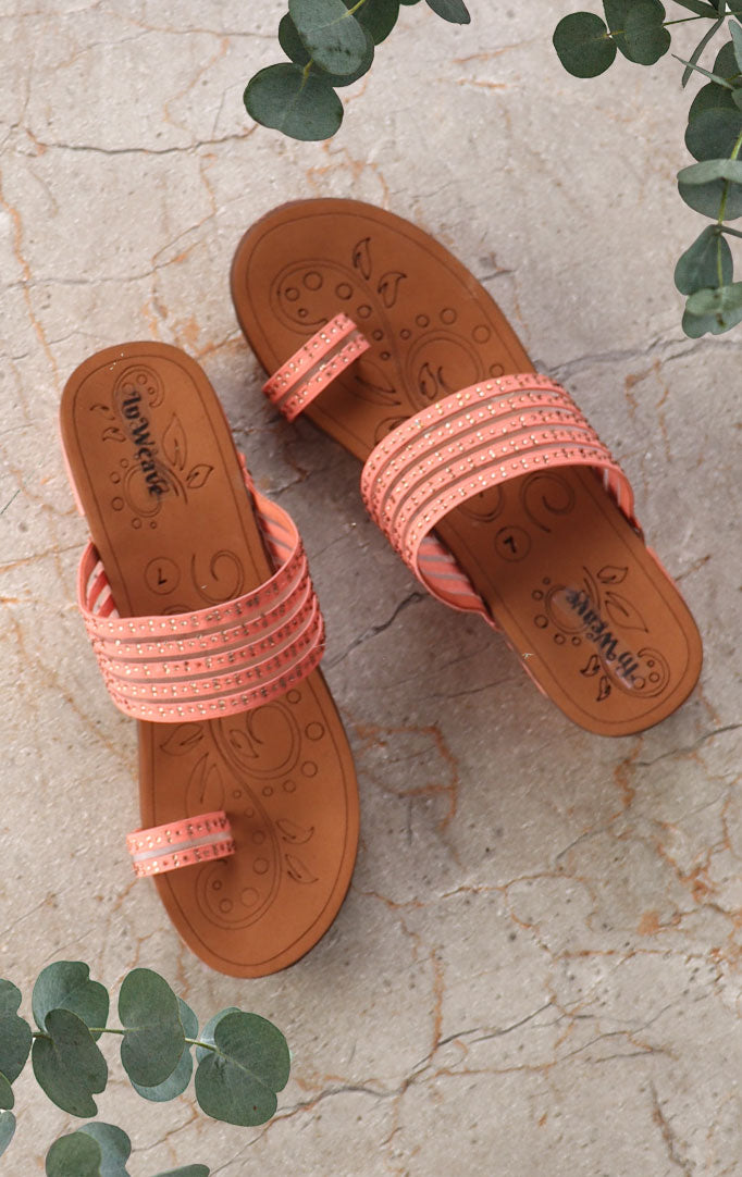 Light-pink Strappy Block Sandals