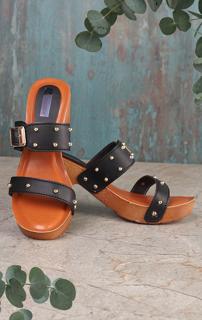 Two-strap Block-heeled Sandals