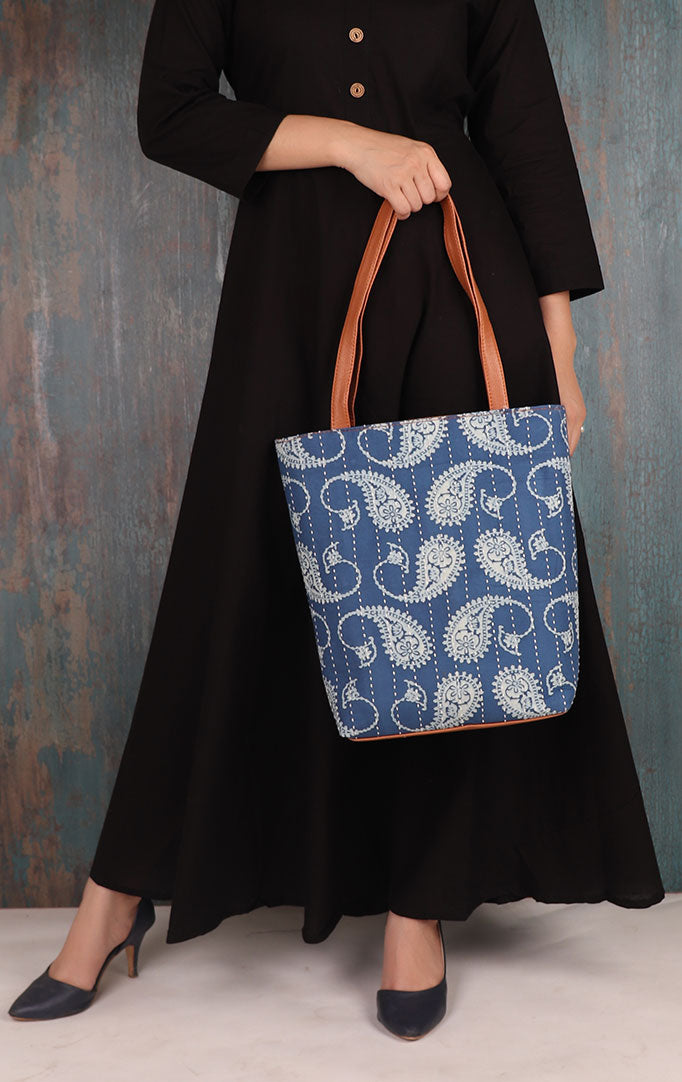 PAISLEY PRINT Fabric Tote Bag